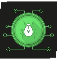 Computer virus icon vector