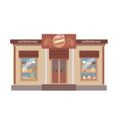 Confectionary Shop Commercial Building Facade vector
