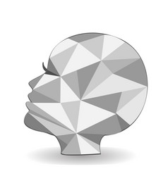 creative woman head shape beauty icon vector image