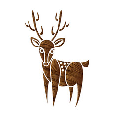 deer cartoon graphic vector image