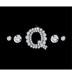 Diamond alphabetic letter Q vector image
