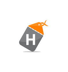 discount shop initial h vector image