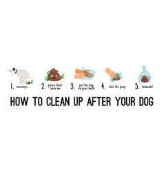Dog poo clean up vector