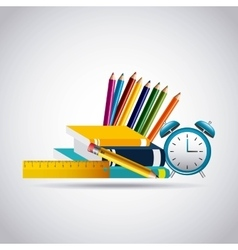 education set supplies icons vector image