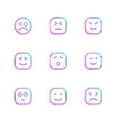 Emoji emoticon smiley eps icons set vector