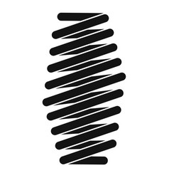 Fat spring coil icon simple style vector