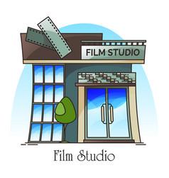 Film studio or movie creation company vector