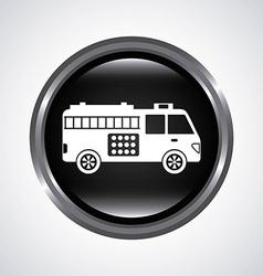 fire truck design vector image