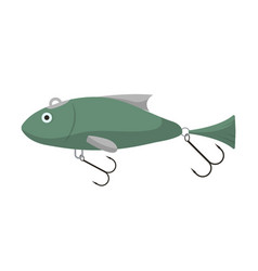 fishing spoon isolated icon vector image