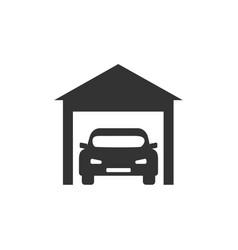 garage icon car sign flat vector image