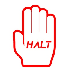 Halt icon vector