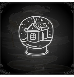 Hand Drawn Snow Globe vector image