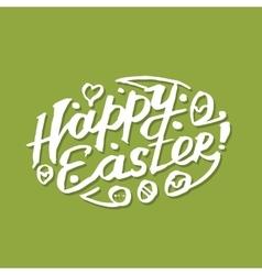 Happy Easter calligraphy vector