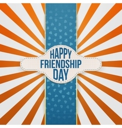 Happy Friendship Day festive Banner with Text vector
