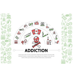 Harmful addictions template vector