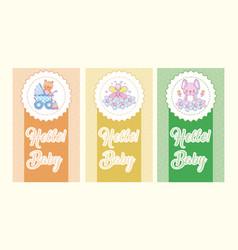 hello baby cards vector image