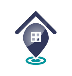 home pin icon vector image