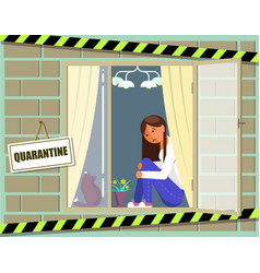 Home quarantine virus epidemic poster vector