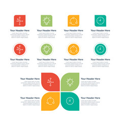 infographic elements features vector image