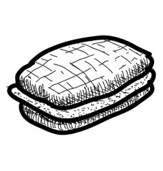 isolated vintage sketch of a sandwich vector image