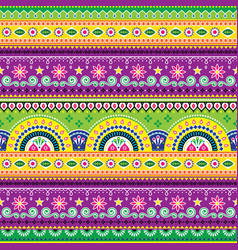 Jingle trucks pattern pakistani truck art vector