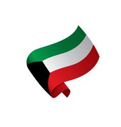 kuwait flag vector image