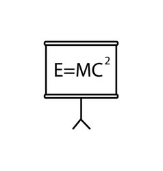Mass energy equivalence board icon vector