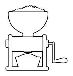 Meat grinder icon outline style vector