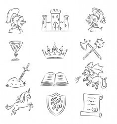 medieval set vector image