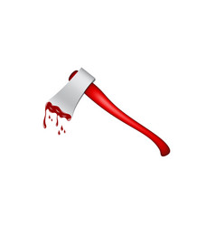 old axe with wooden handle in red design vector image