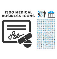 Prescription icon with 1300 medical business icons vector