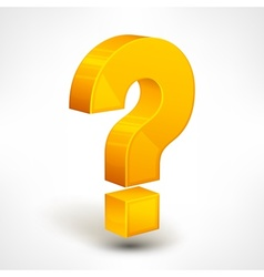 Question mark on white vector image