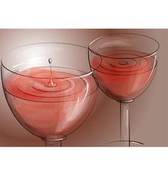 Rose wine vector