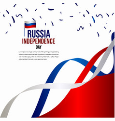 Russia independence day celebration template vector