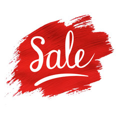 sale banner with red blob vector image