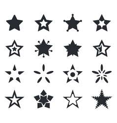 Set of star icons vector