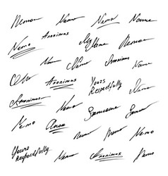Signature icons collection vector