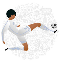 soccer player colored set vector image