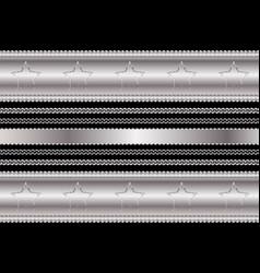 Steel chrome plating vintage pattern and frame vector