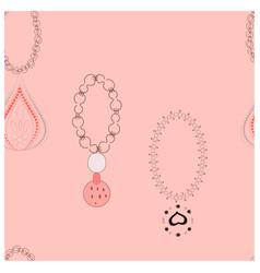 Trendy bracelets with pendants endless design vector