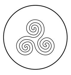 Triskelion or triskele symbol sign icon outline vector
