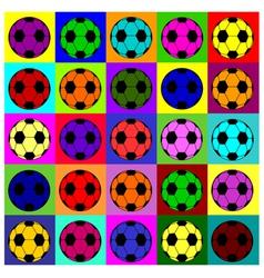 Warhol footballs vector