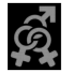 White halftone double mistress icon vector