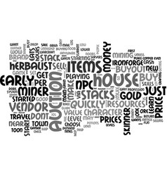 your warcraft noob gold guide text word cloud vector image