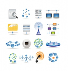 connection and internet icons vector image vector image