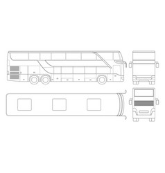 double-deck multi-axle luxury touring coach vector image