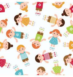 kids seamless pattern vector image