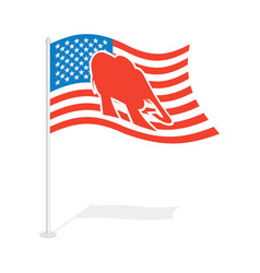 republican elephant flag national flag of vector image vector image