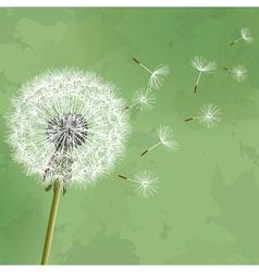 Vintage floral green background with flower vector image vector image