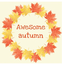 Awesome autumn vector